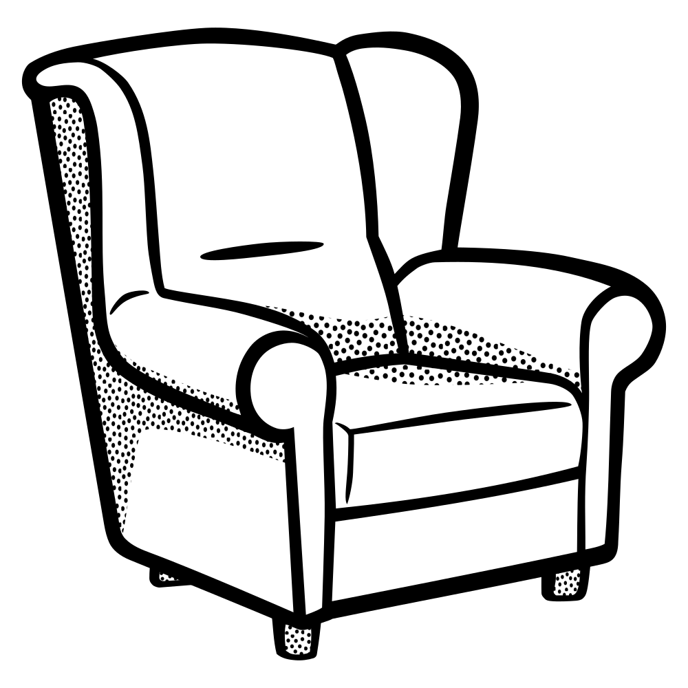 Furniture clipart wedding chair. Onlinelabels clip art armchair