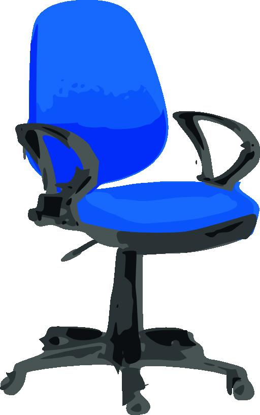 Desk blue with wheels. Clipart chair class chair