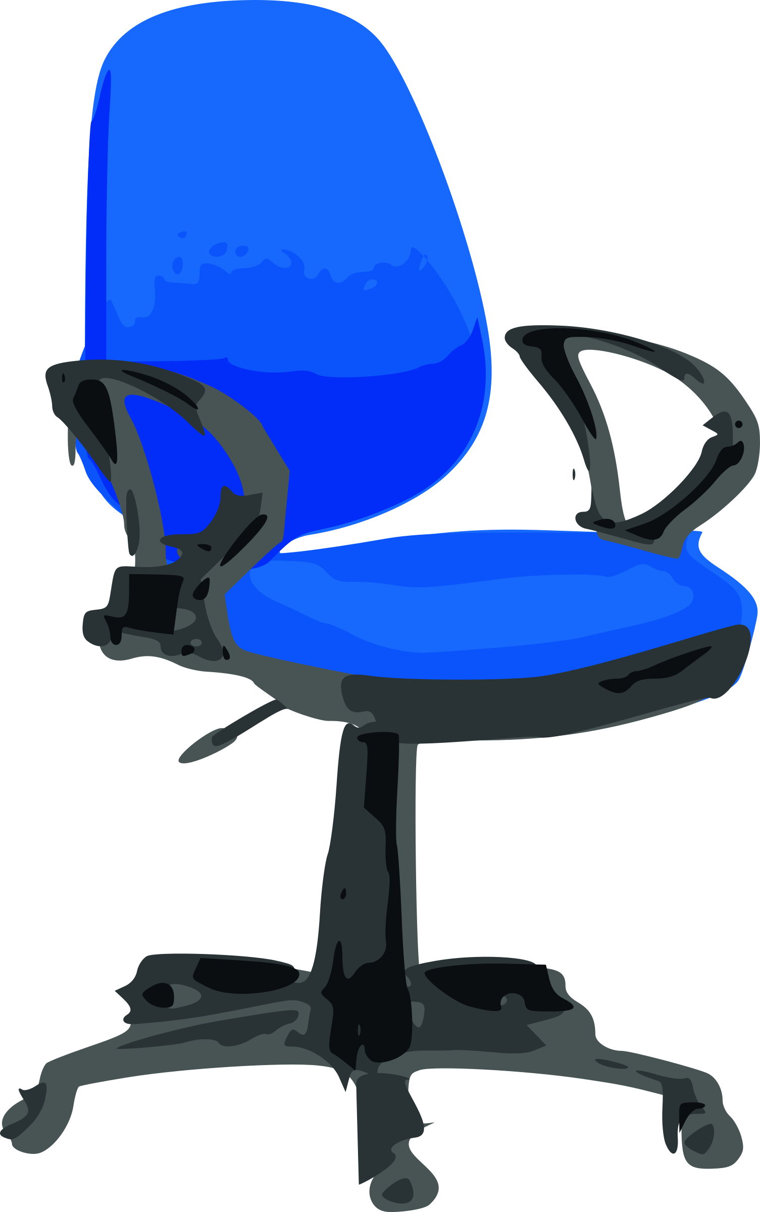 Clipart desk desk chair. Blue with wheels big