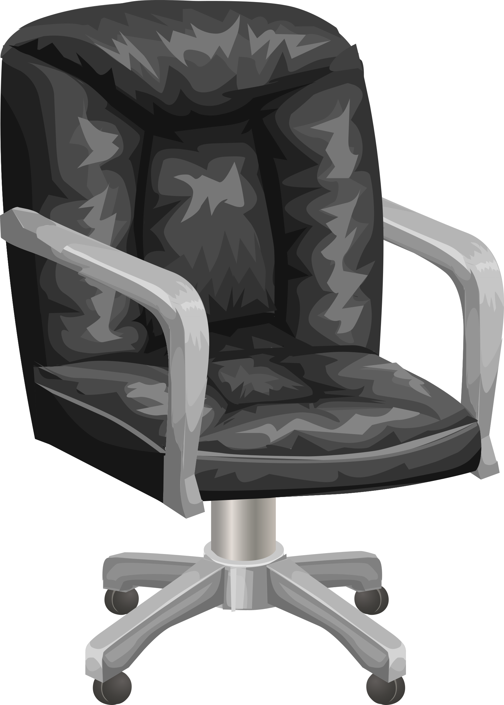 Clipart desk desk chair. Black office from glitch