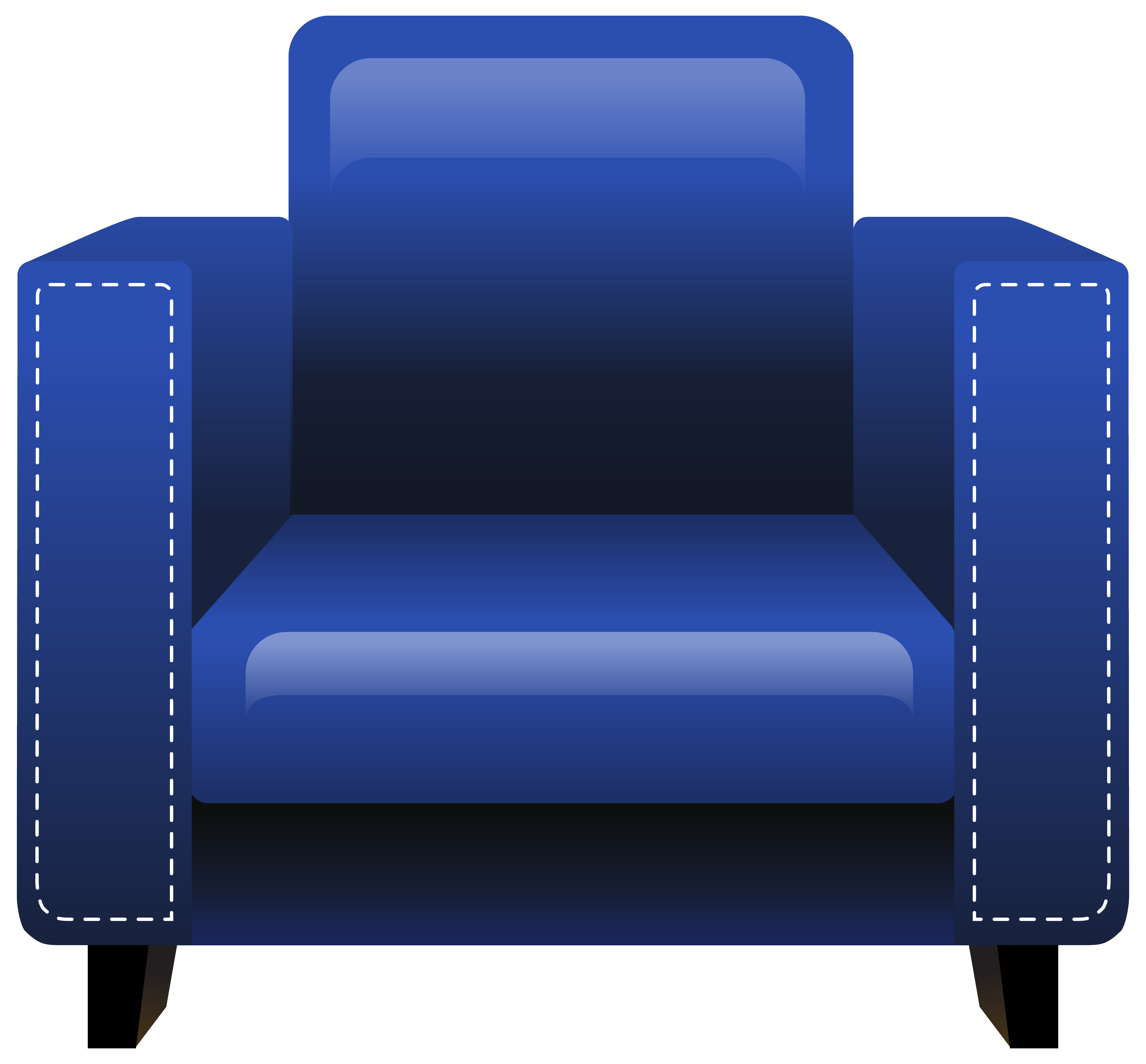 Blue armchair png image. Piano clipart chair