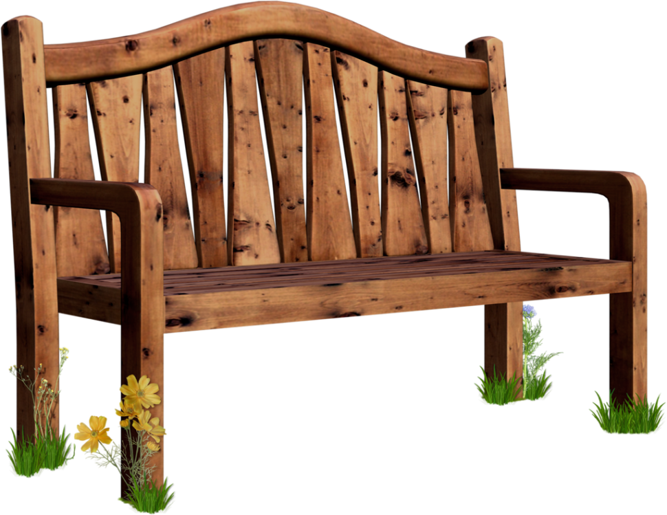 Bench pencil and in. Clipart chair garden chair