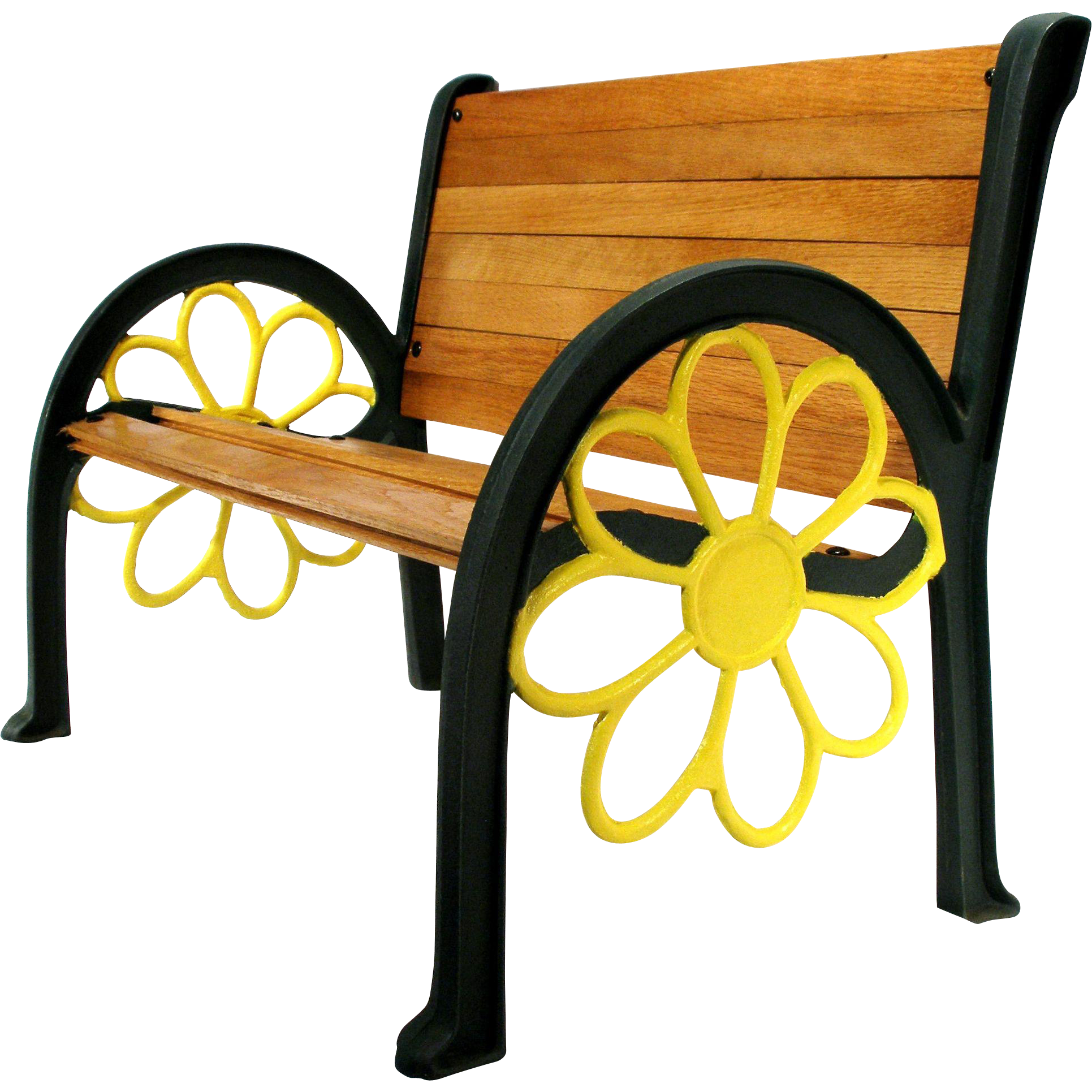 Sunflower cast iron wood. Furniture clipart vintage furniture