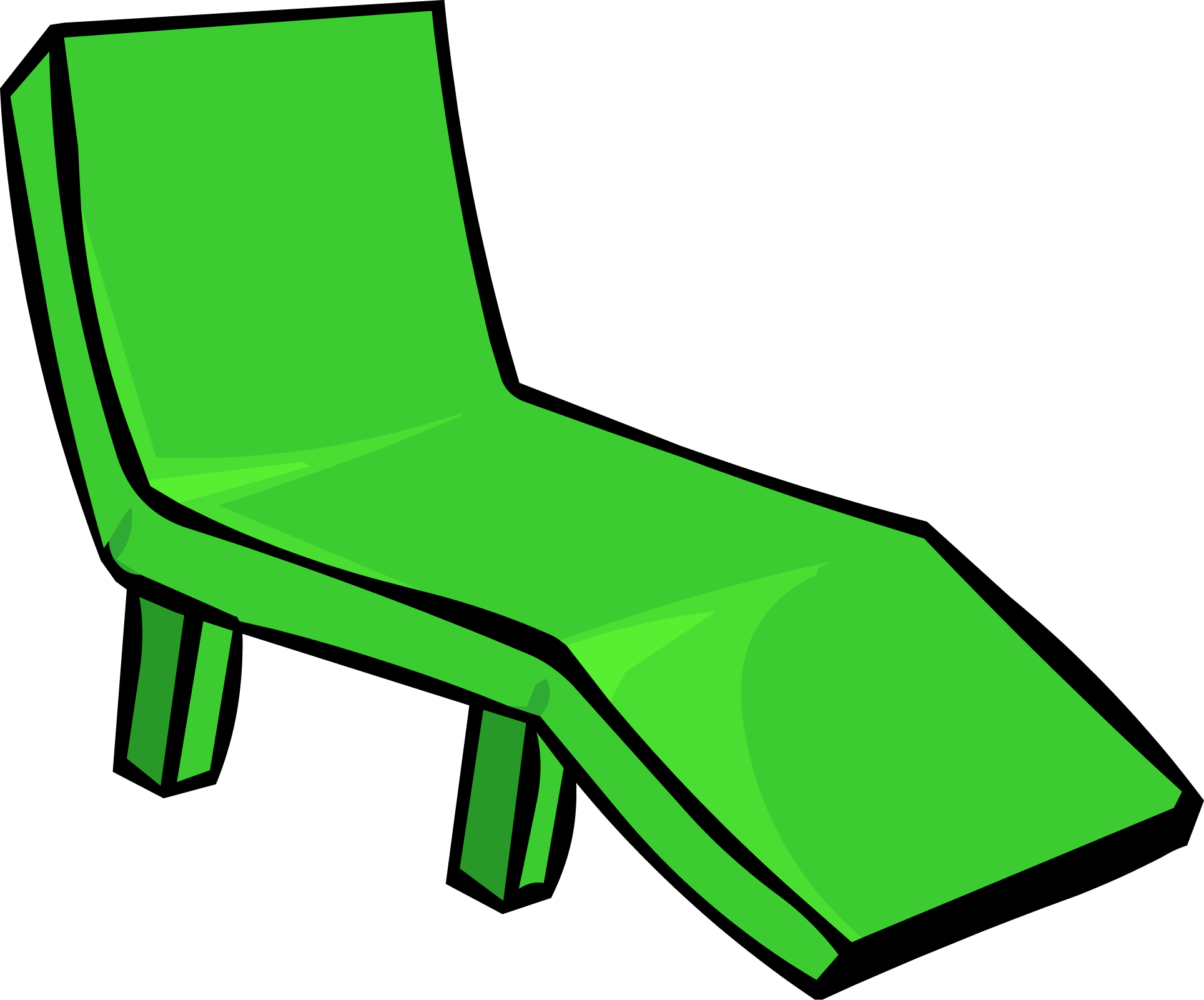 Furniture clipart lounge chair. Image green deck png