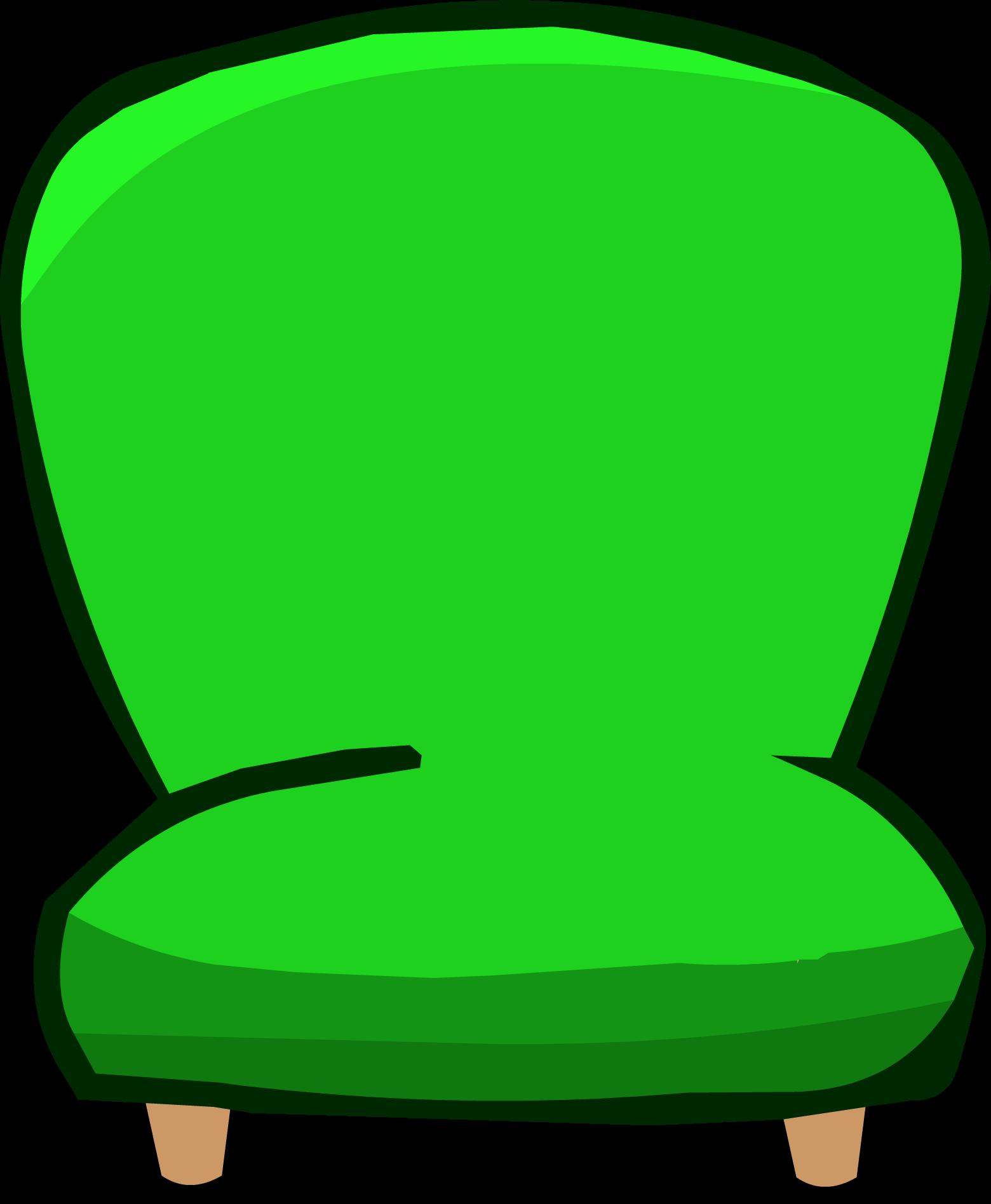 Fart clipart chair. Green plush club penguin