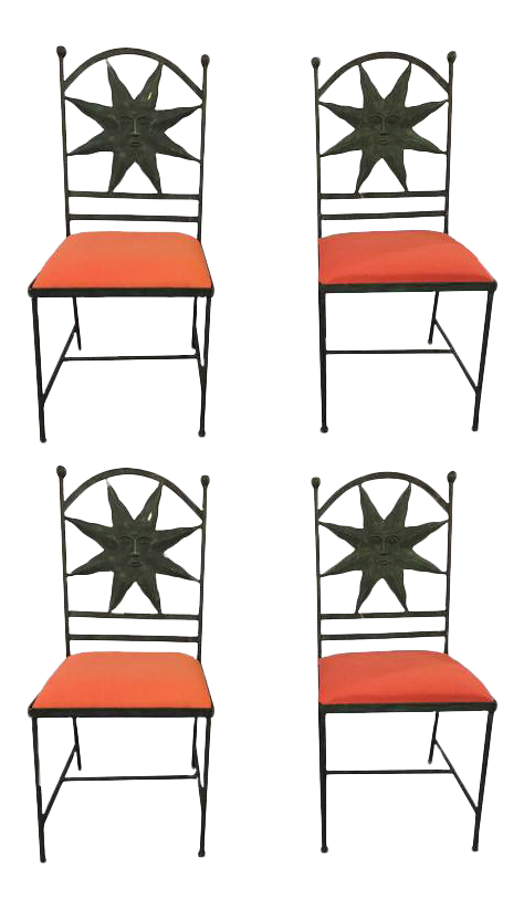 High end regency metal. Clipart chair hollywood director