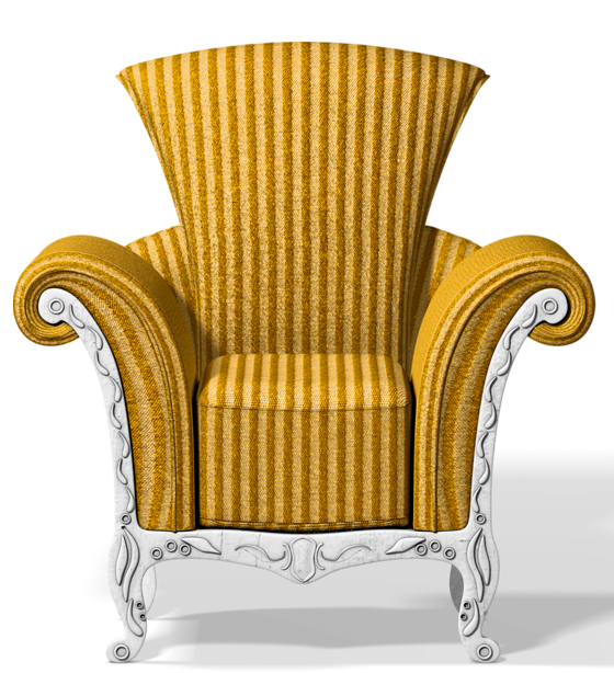 Transparent gold png gallery. Clipart chair illustration