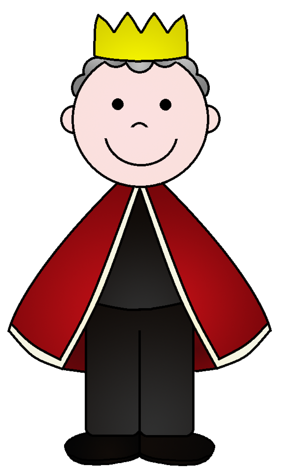 collection of kings. Queen clipart happy king