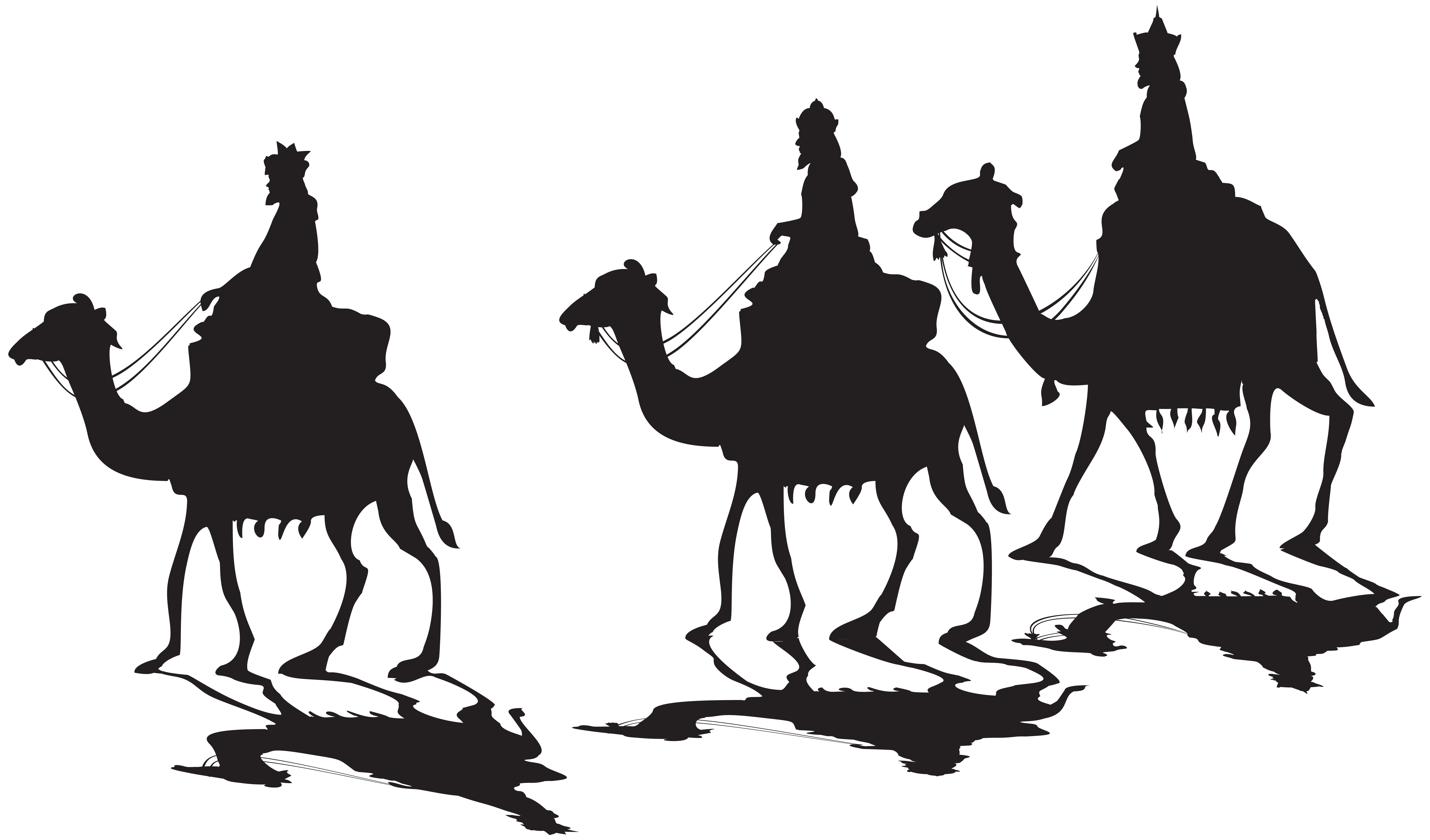Silhouette png clip art. King clipart three kings