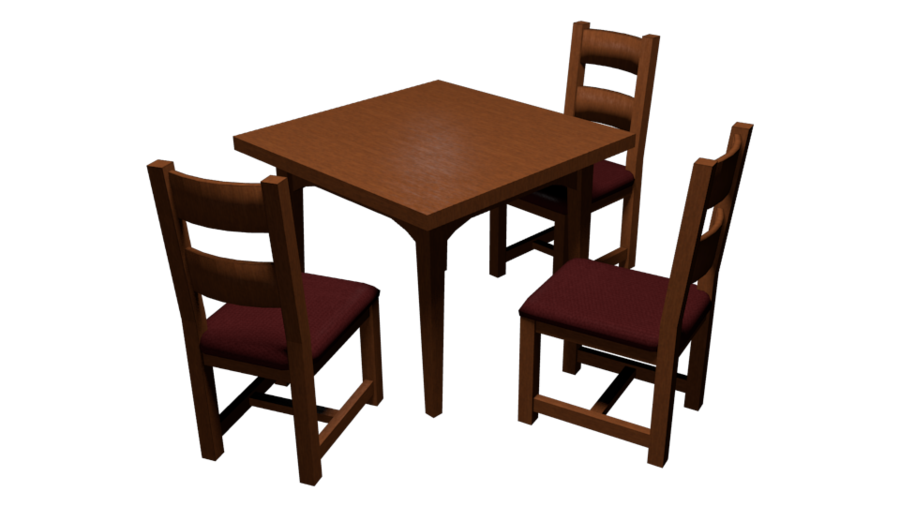 Dining and chairs wip. Furniture clipart rectangular table
