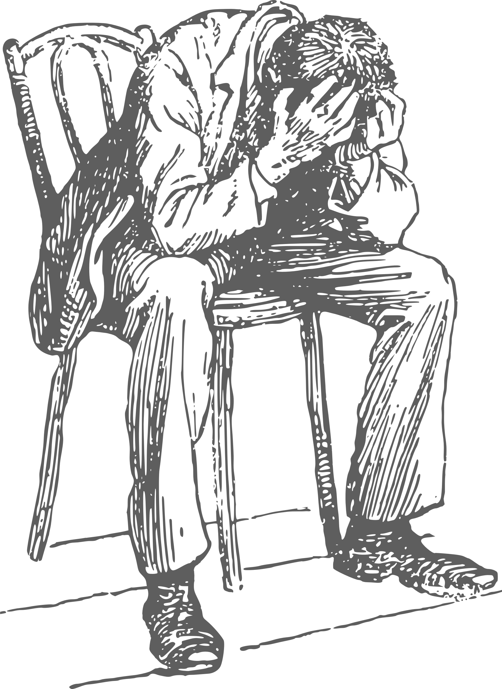 Desperate big image png. Clipart chair man