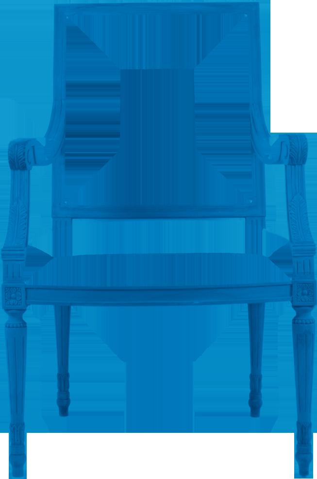 Hidden mill by design. Furniture clipart blue chair
