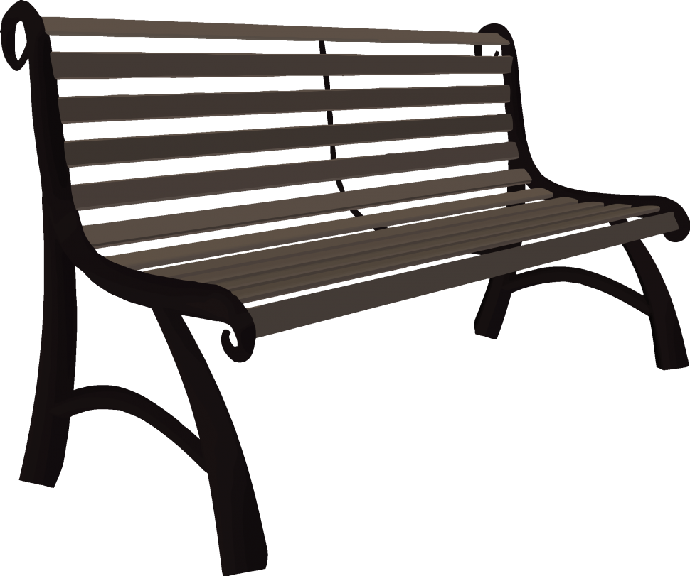 Clipart chair park. Bench cool drawing also