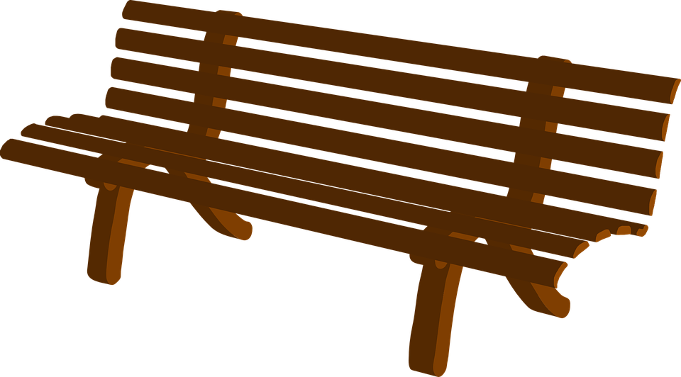 Wood seat pencil and. Clipart chair park