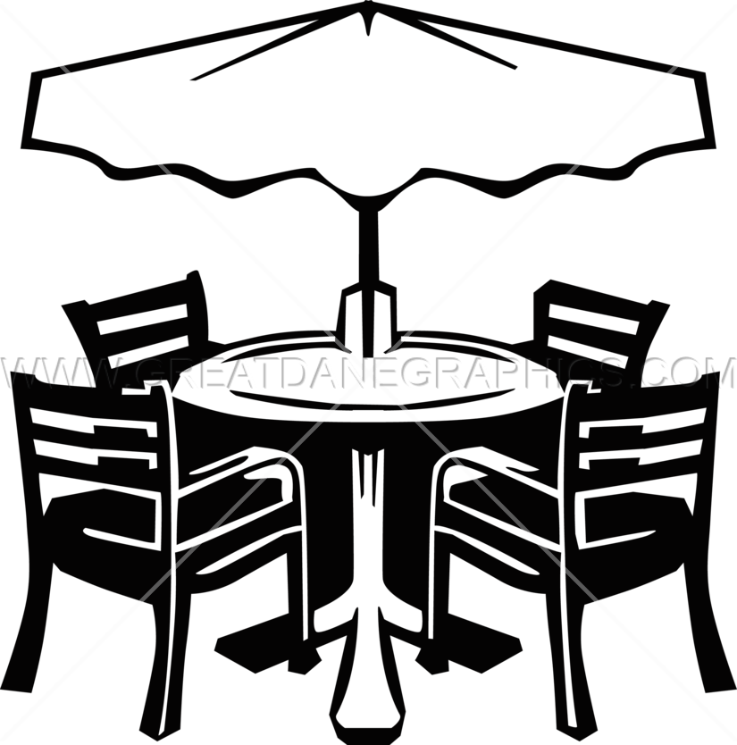 Patio production ready artwork. Furniture clipart kitchen furniture