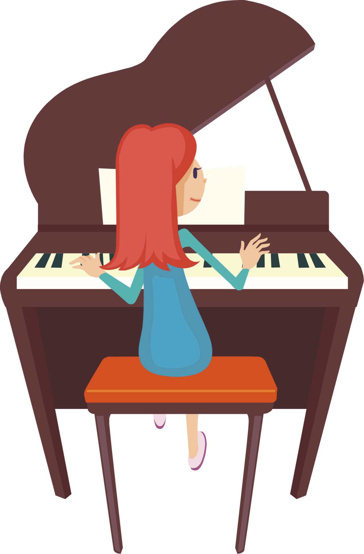 Clipart chair piano.  collection of free