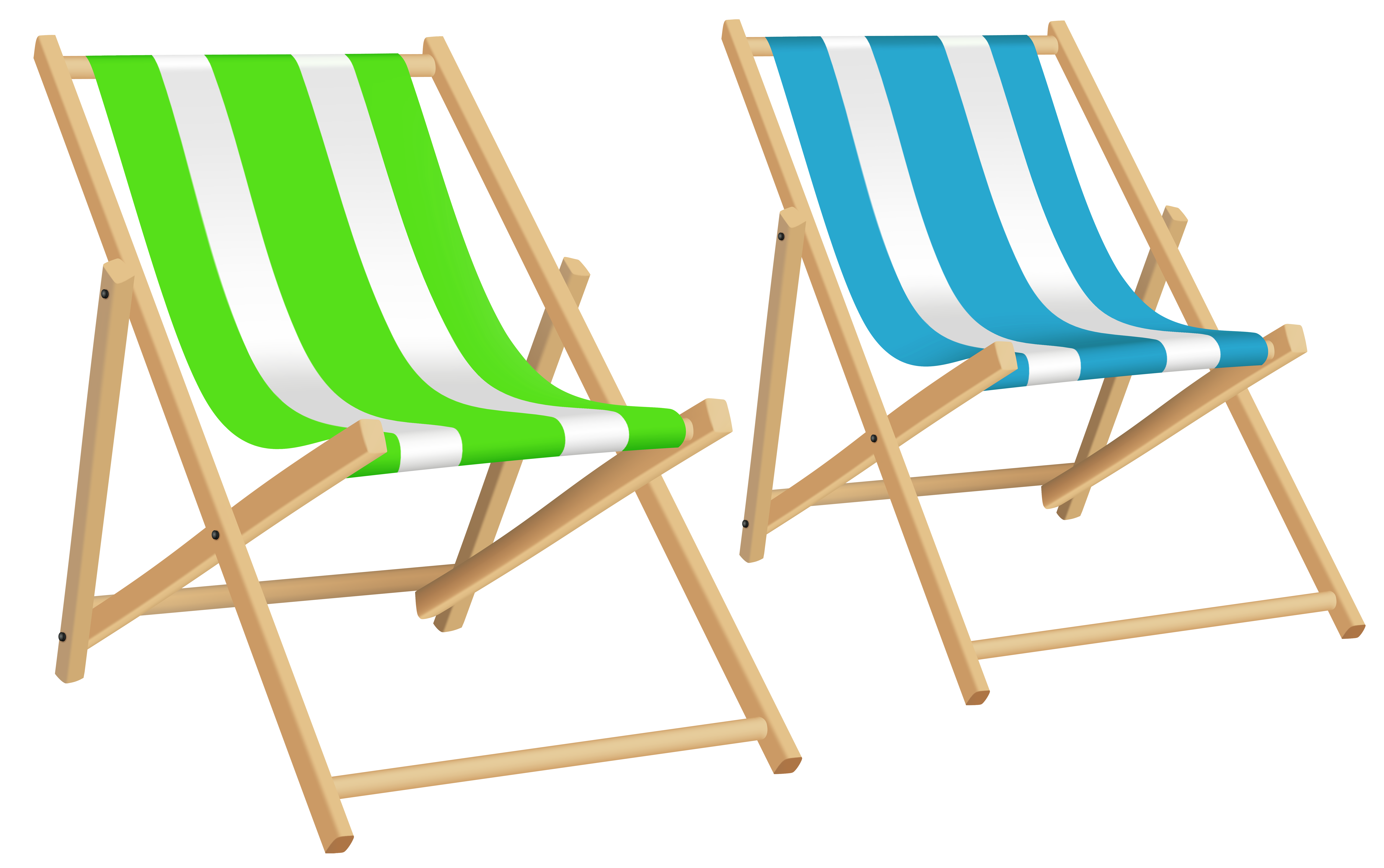 Beach Chairs PNG Clip Art | Gallery Yopriceville - High-Quality ...