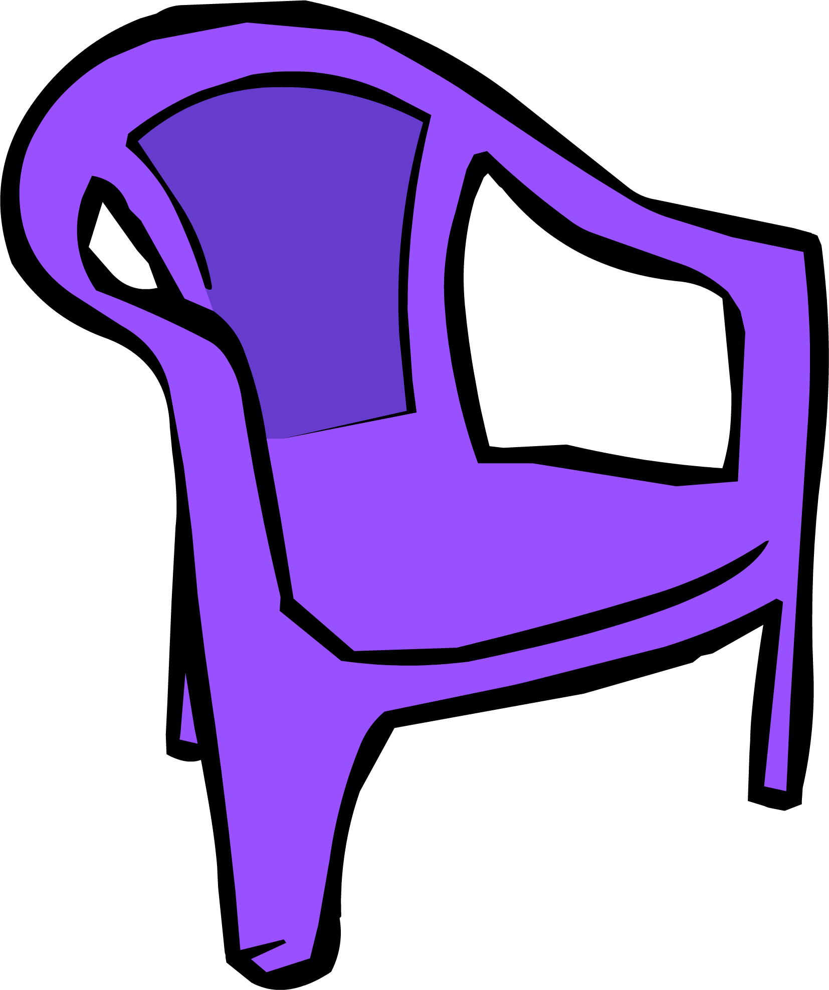 Image purple png club. Clipart chair plastic