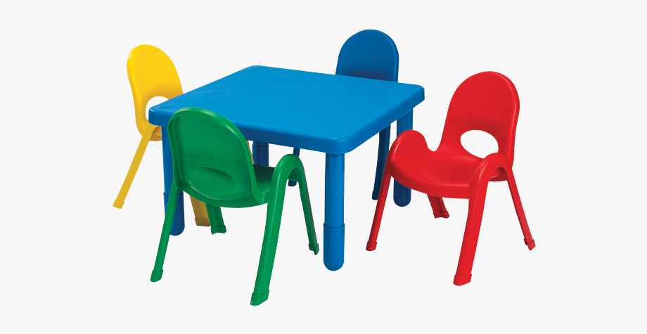 Furniture clipart preschool. Chair kid table and