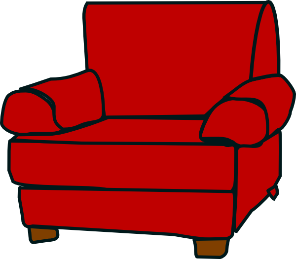 Red armchair clip art. Clipart chair recliner