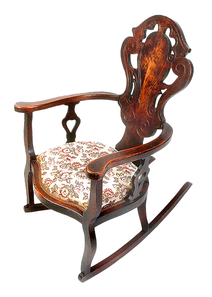 Rocking chair png image. Furniture clipart object