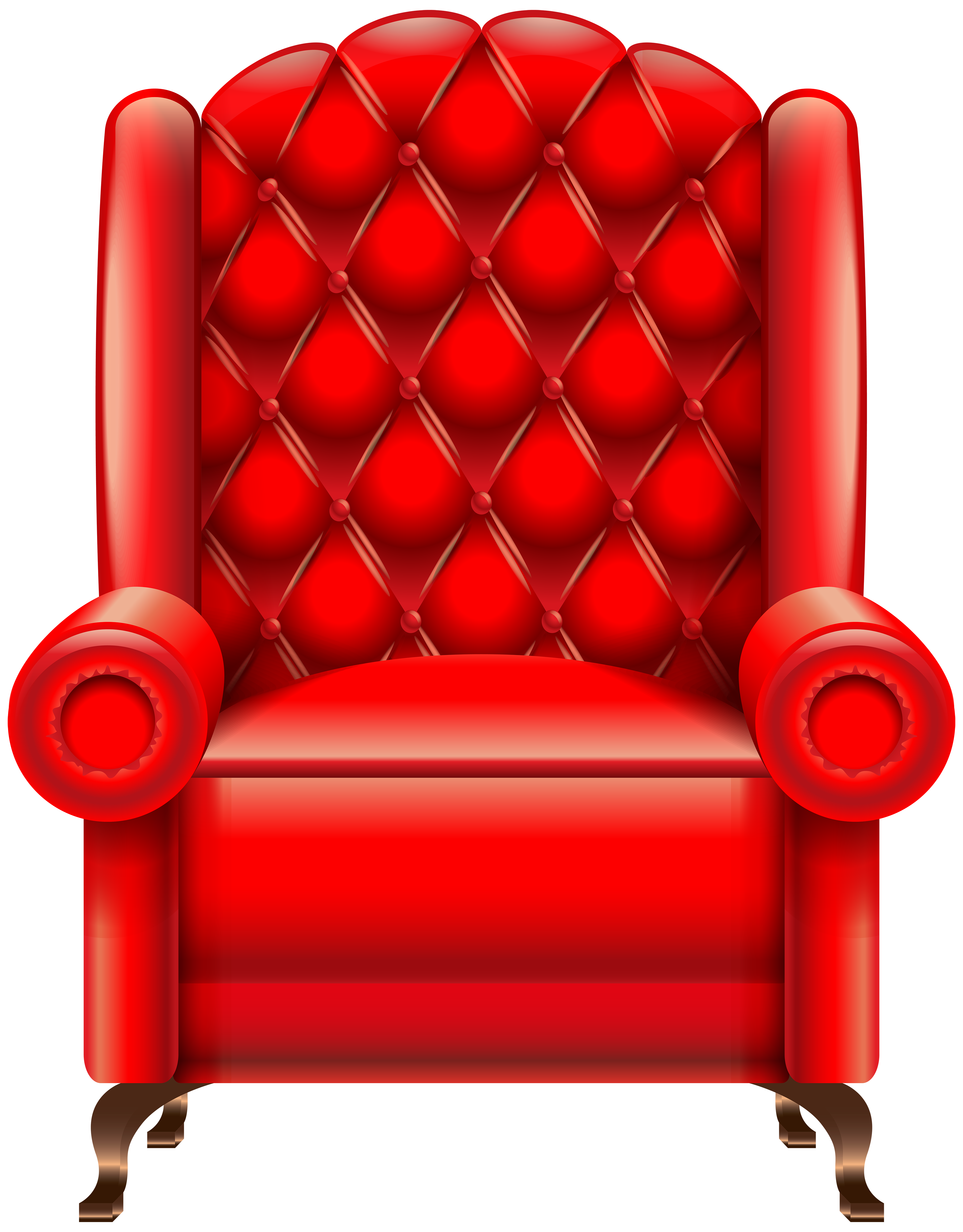 Clipart chair sat. Red armchair velvet uk