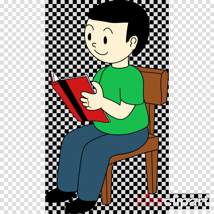 Clipart chair sat. Boy sitting on clip