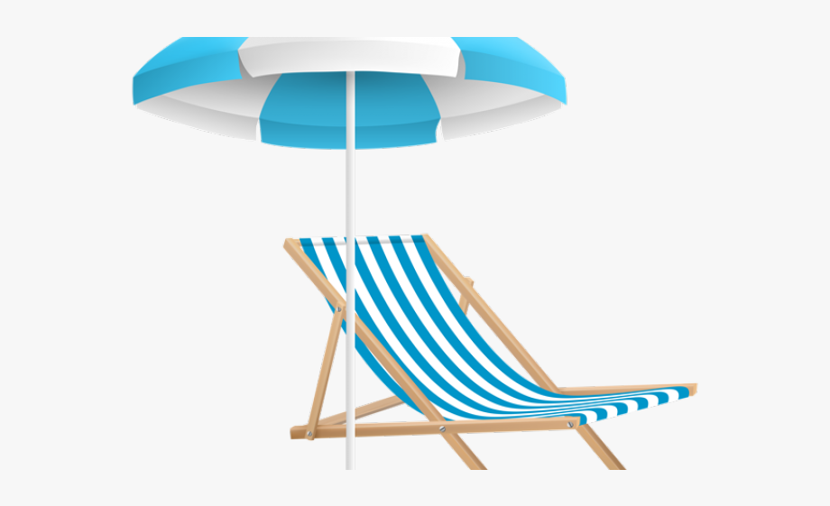Sandy beach . Clipart chair sea