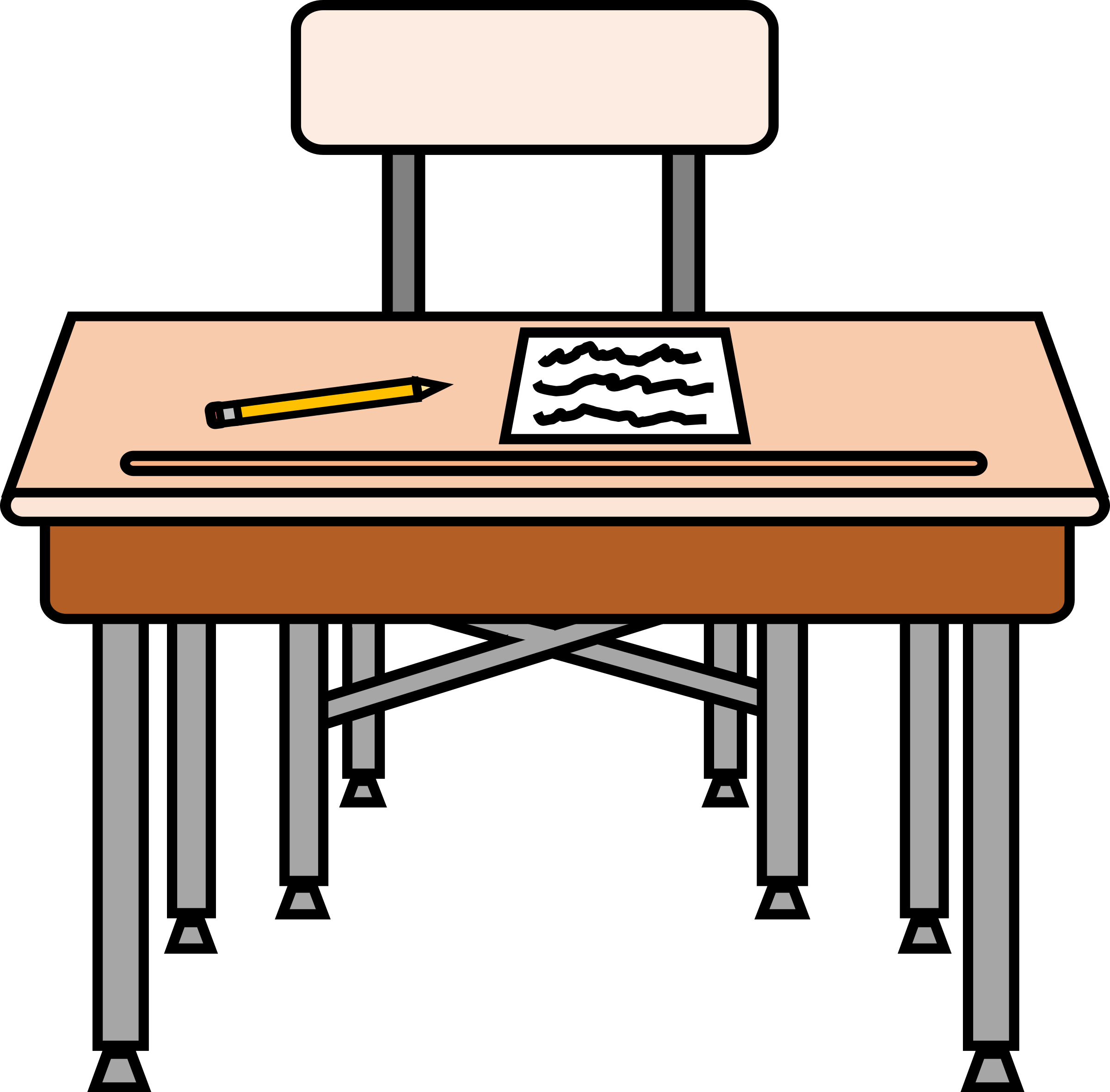 Empty with a worksheet. Clipart chair seat