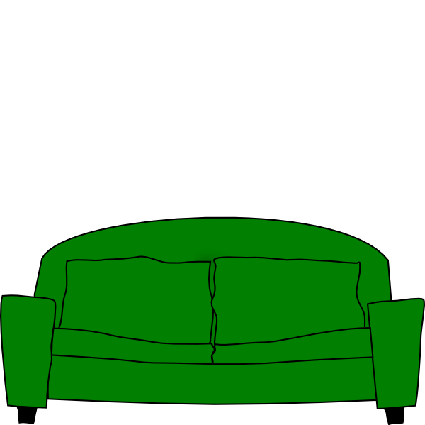 couch clipart carton