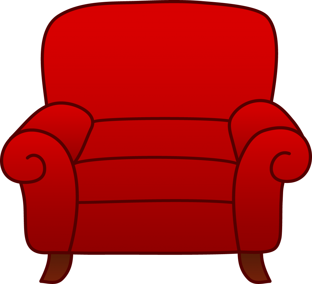 Couch clipart small. Photo excellent red armchair