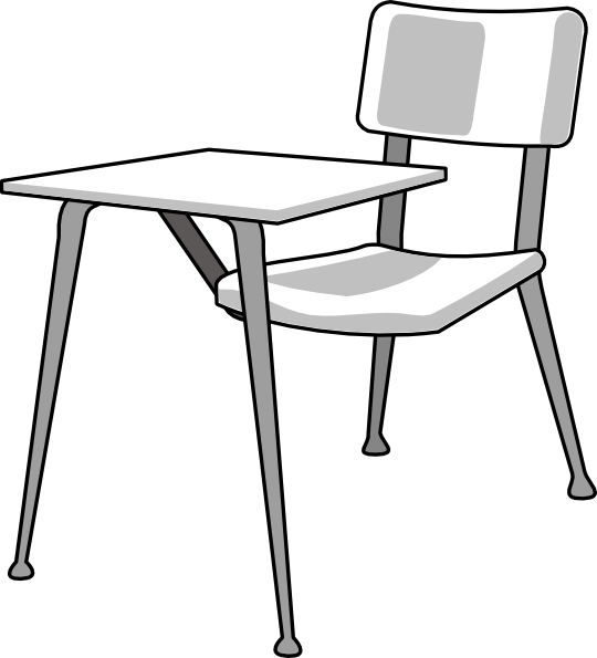 Furniture school clip art. Clipart desk desk chair
