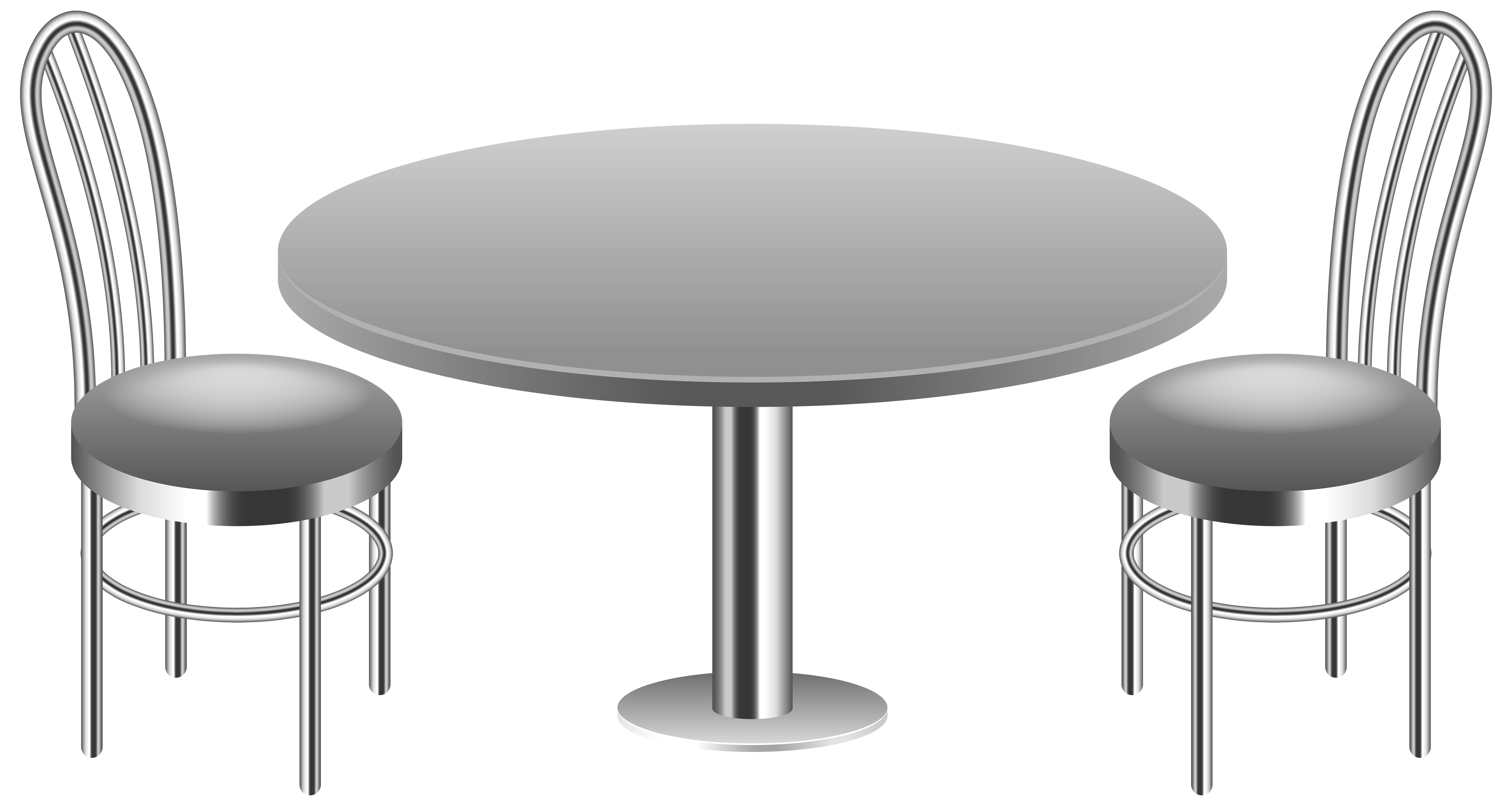 Clipart table table chair. With chairs transparent png