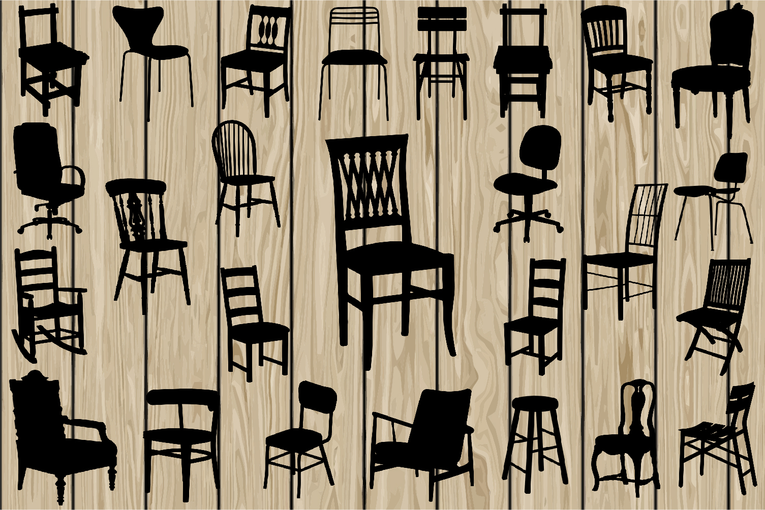 chair svg eps. Furniture clipart vector