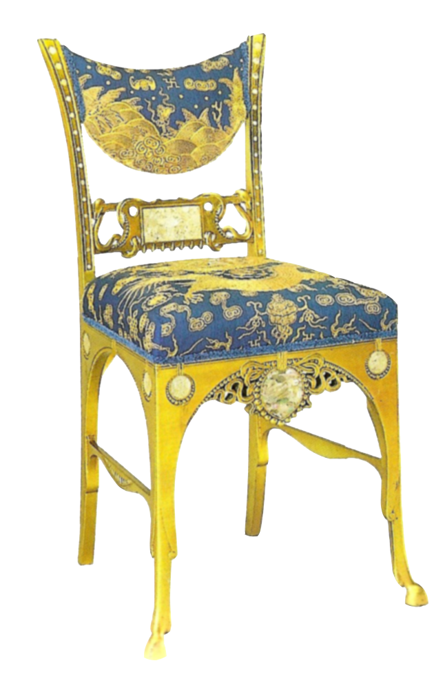 Blue and gold antique. Furniture clipart object