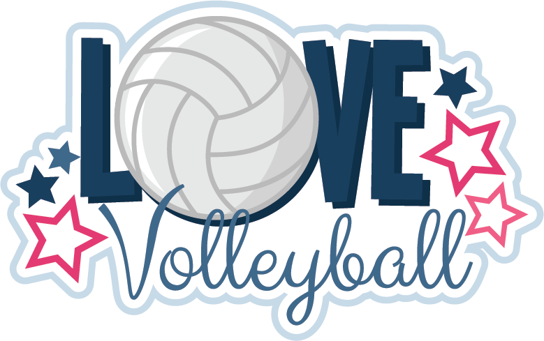 Border group love cliparts. Words clipart volleyball