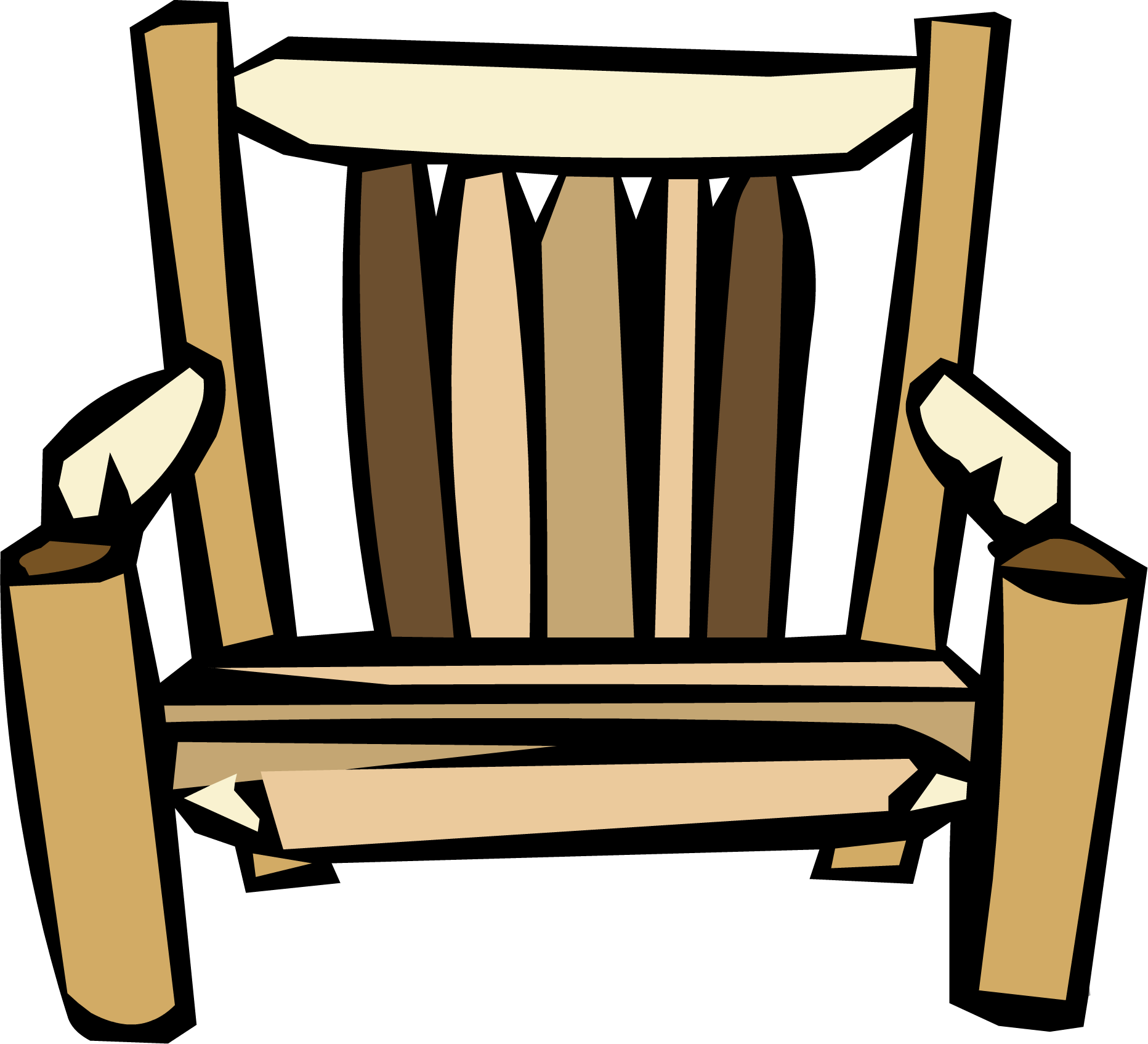 Clipart chair wooden chair. Log club penguin wiki