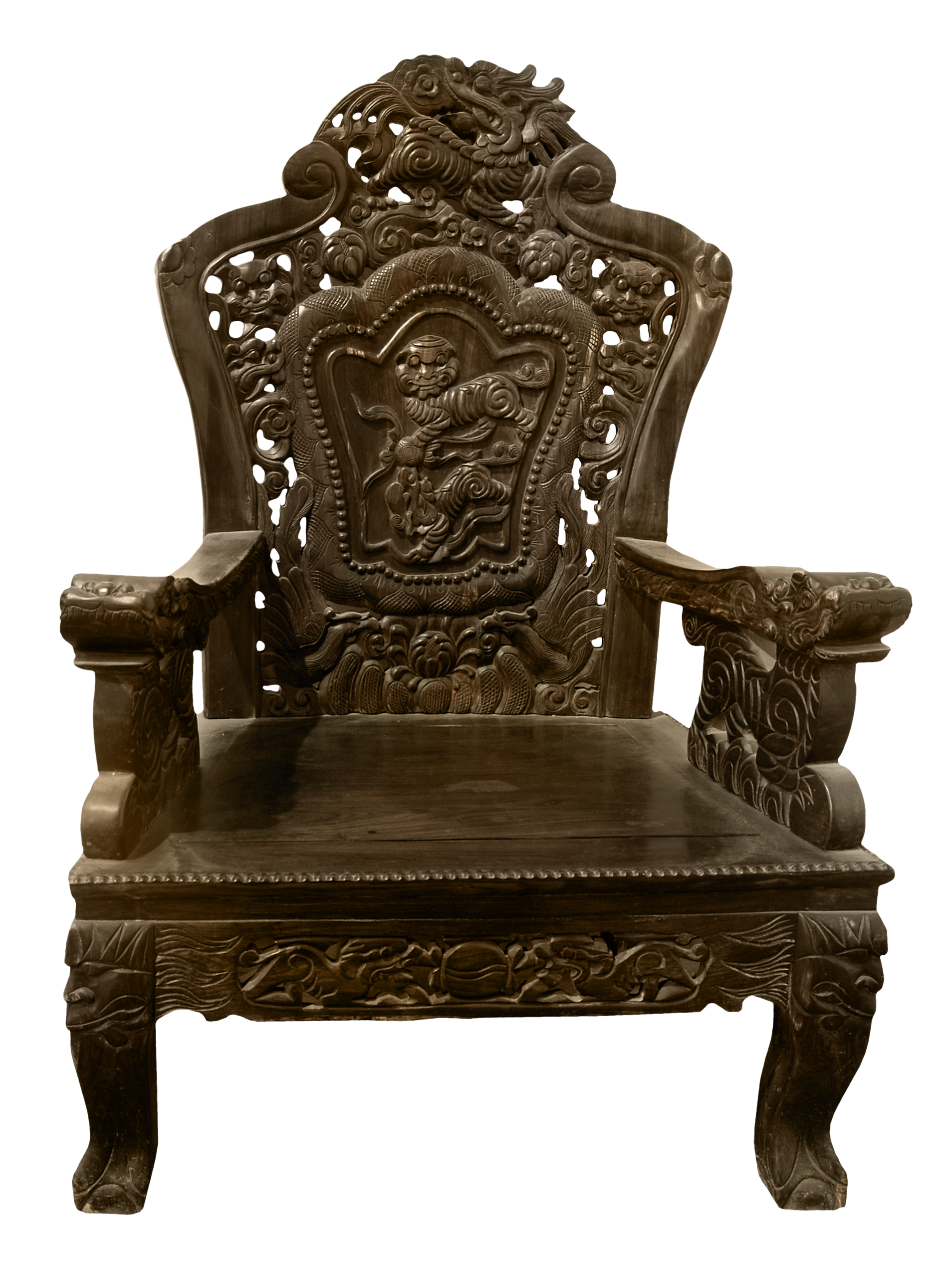 Transparent Carved Wooden Chair PNG Picture | Gallery Yopriceville ...