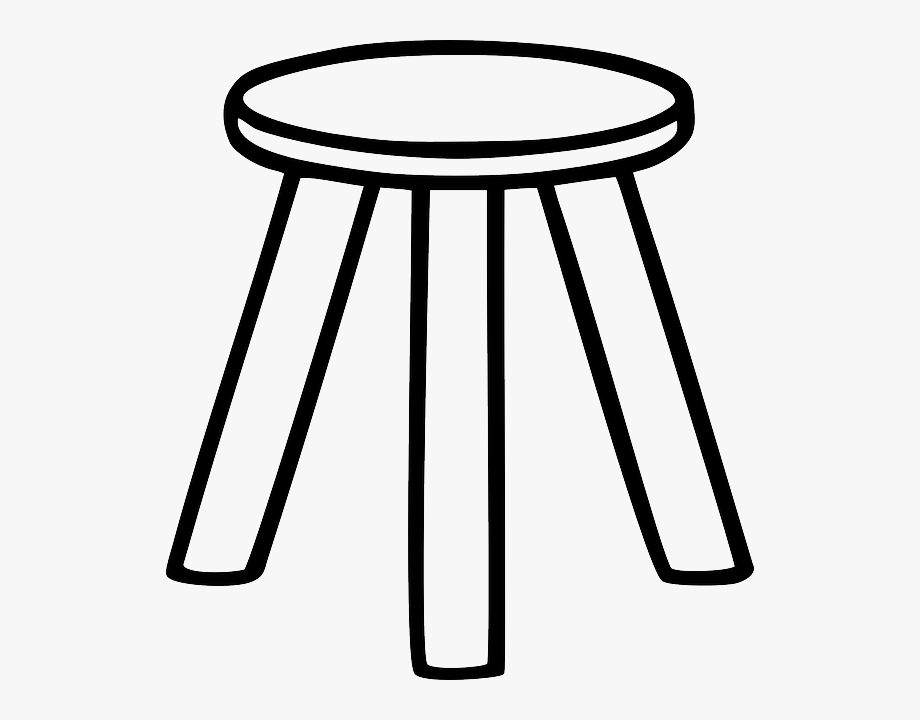 Wood furniture black and. Clipart chair wooden stool