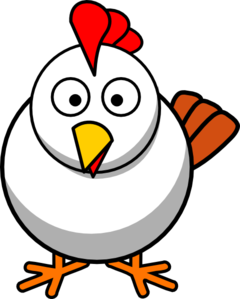 Clipart chicken. White clip art at