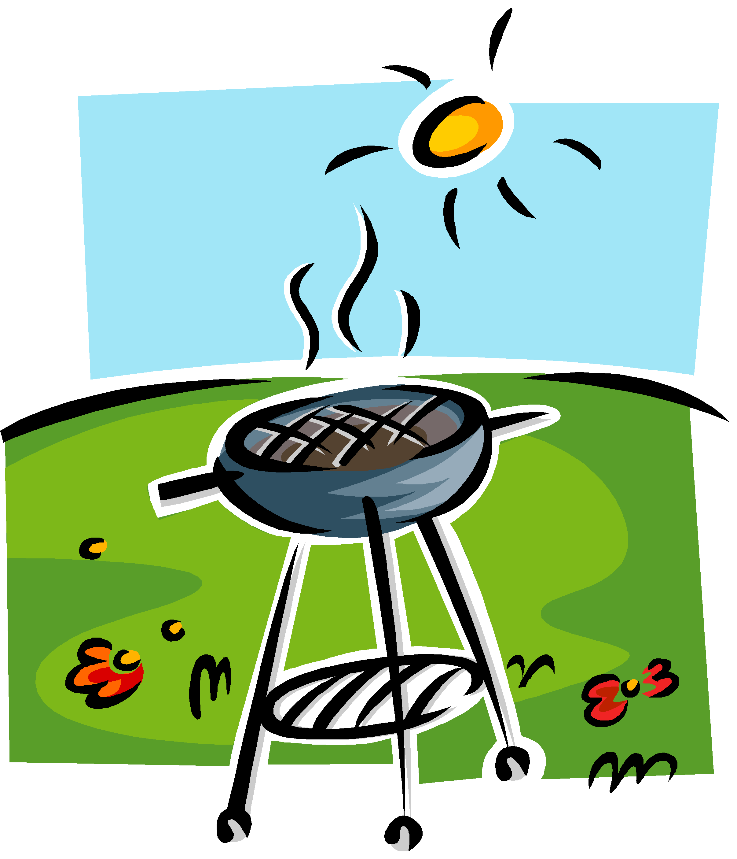 grilling clipart hot dog grill