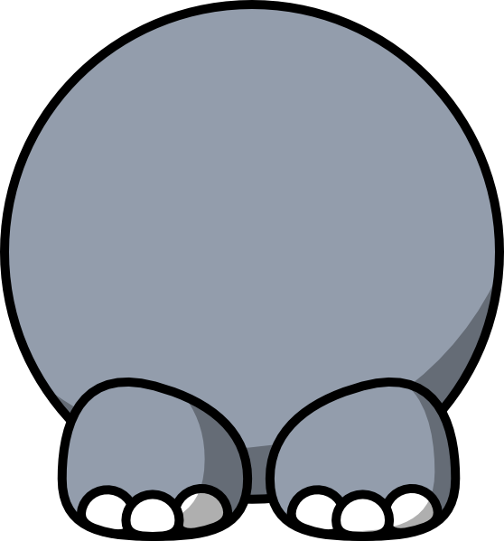 Elephant clip art at. Clipart duck body