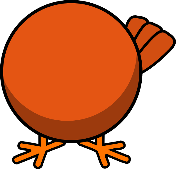 Chicken clip art at. Clipart duck body