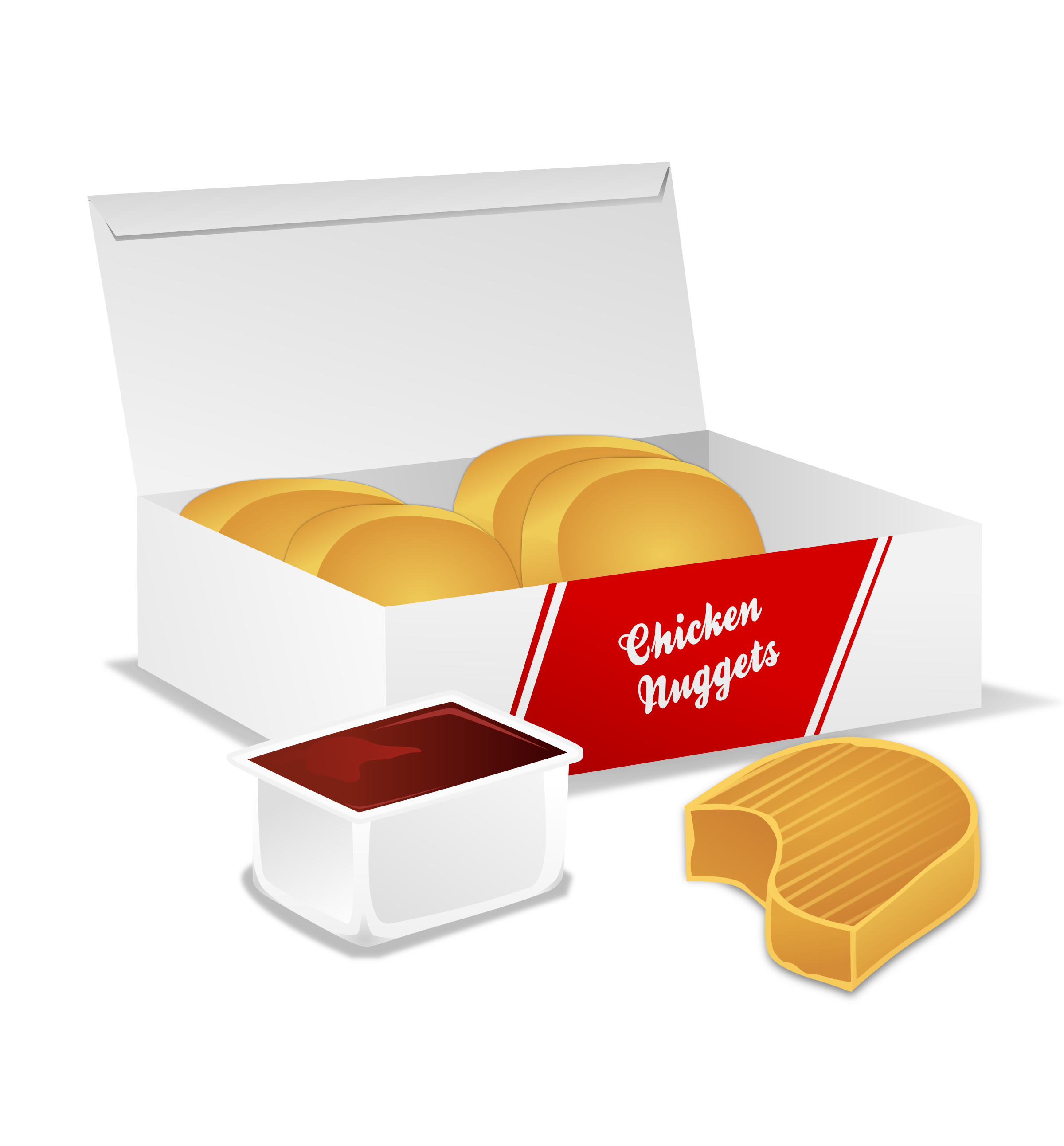 Chicken nuggets big image. Fries clipart appetizer
