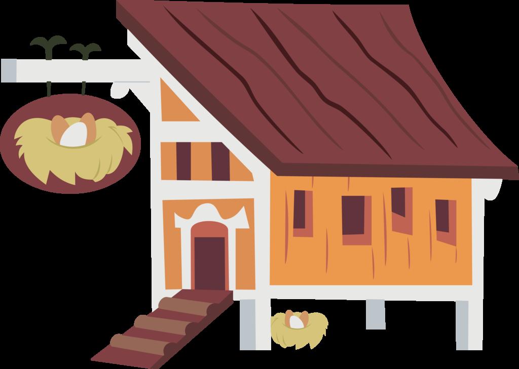 Home clipart chicken. Hen house by jeatz