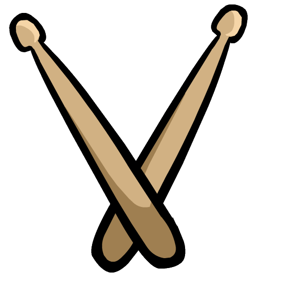 Drumsticks drawing at getdrawings. Drums clipart color