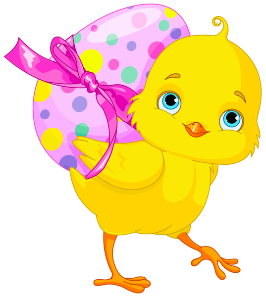 With pink egg gallery. Easter clipart chicken