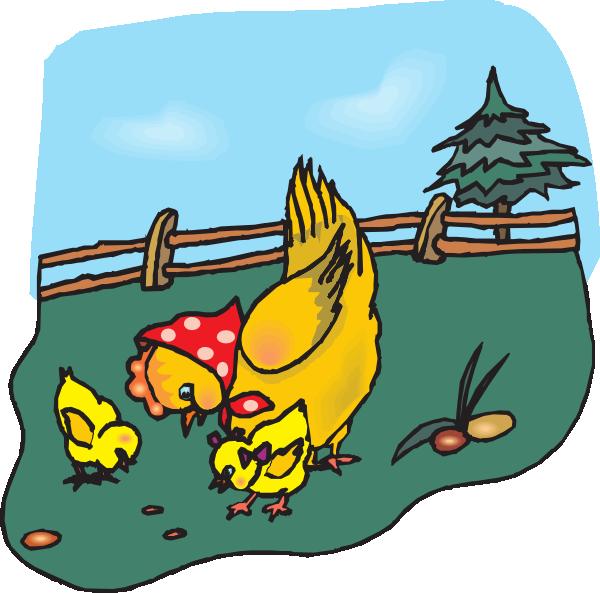 hen clipart eating