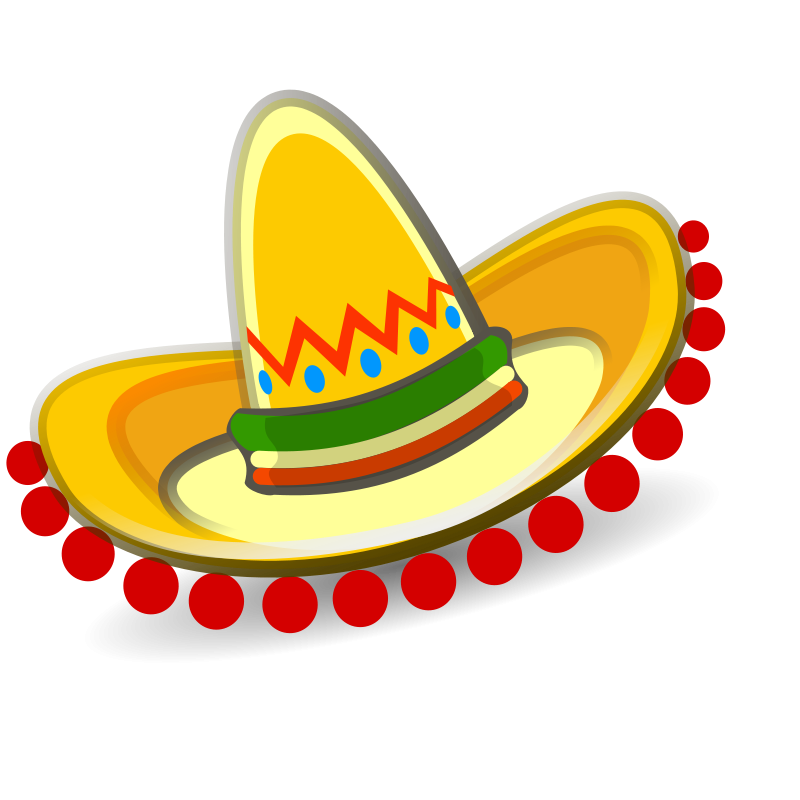 Mexican hat p north. Hats clipart education