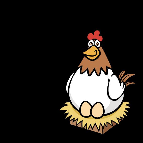 Cartoon clip art rooster. Hen clipart orange chicken